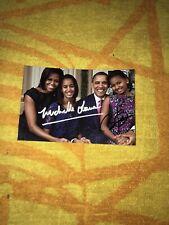 Michelle Obama Barack Obama Photo Dedicace Autograph President Us