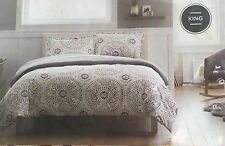 Threshold Duvet Cover Set 3 Piece King 100% Cotton 2 Shams New Bedding Gift