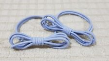 ONE PAIR ELASTIC PONYTAIL HOLDER KNOTTED DESIGN HAIR ACCESSORY BLUE GRAY