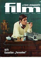 Film & Ton-Magazin 11/71 neuer deutscher Film Regisseure XI Peter Fleischmann
