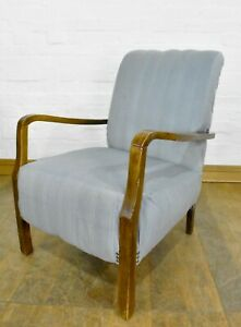Antique vintage upholstered tub armchair - lounge reading chair