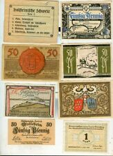 Notgeld:Holst.Schweiz,Horn/Lippe,Hainholz,Huma,Haslach