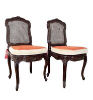 Napoleon III Caned Chairs With Cushions - Set of 2