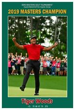 """Tiger Woods 2019 Masters Golf Champion 13""""x19"""" Commemorative Poster"""