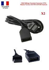 Lot 2 Cables Rallonge Extension Connecteur 15 Pins 1M80 Manette Neo Geo AES MVS
