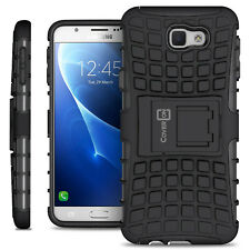Black Kickstand Case for Samsung Galaxy On5 (2016 Only) Hard Slim Phone Cover