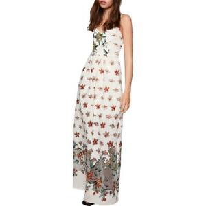 BCBGeneration Womens Floral Burnout V-Neck Maxi Dress BHFO 2687