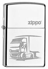 ZIPPO Feuerzeug TRUCK High Polished Chrome Gravur LKW Lastwagen NEU OVP