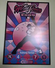Peter Max Autographed Original Print Yankees - Mets 2000 Subway Series