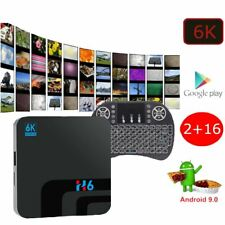 Android 9.0 PIE Smart TV Box Media TV Player USB HDMI WiFi Keyboard 6K H6 16GB
