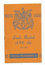 New listing 1952/53 Division 2 - LEEDS UNITED v. FULHAM
