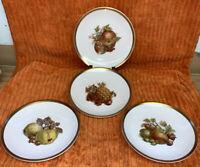 """4 Vtg. Golden Crown E&R 1886 Germany Harvest Fruit 6"""" Bread & Butter Plates"""
