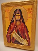 Saint Silouan Silouanos  ICONE IKONA ICONO Byzantine Greek Orthodox Icon Art