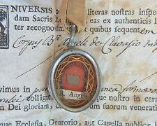 relic reliquary B.ANGELO (CARLETTI ) DI CHIVASSO+ DOCUMENTO 1771 RELIQUIA shrine