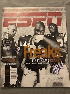 URLACHER * BEARS * HOWARD * SAINTS * ELLIS * JETS * AUTOGRAPHED ESPN MAGAZINE