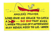VINTAGE UNUSED POSTCARD OF A FISHERMANS ANGLER'S PRAYER