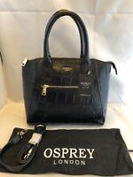 Osprey by Graeme Ellisdon genuine Black leather shoulder /Handbag. BNWT dust bag