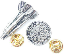 Darts Set Handcrafted from Solid English Pewter In the UK Lapel Pin Badges