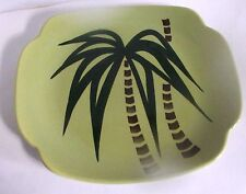 "Continental Kilns Tahiti 11"" Platter Palm Tree"