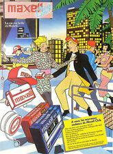 Publicité 1984  maxell club vignette dans les cassettes audio UD I et UD II