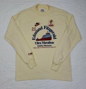Nike Marathon Long Sleeve Vintage 80s Tee Duluth Minnesota