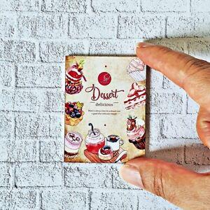 Dollhouse Miniatures Wood Sign Retro Vintage Dessert Bakery Wall Shop Decoration