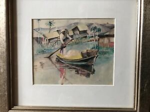 "Rebecca Danker Original Watercolor ""The Way We Were"" 1988 Va.,N.Y Artist"