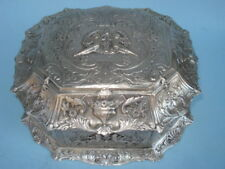 English Silver Plated -- Jewelry Chest -- By Cross Of London -- Circa: 1900