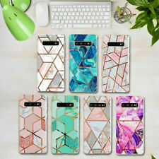 Geometric Marble Case For Samsung Galaxy S8+ S9 S10 S20 A70 Soft Pastel Cover