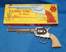VINTAGE KILGORE CAST IRON LONG TOM CAP GUN - UNFIRED - W/ORIG. BOX - CA 1945