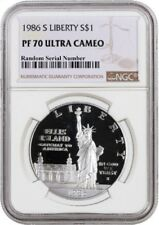 1986 S $1 Statue Of Liberty Centennial Commemorative Silver Dollar NGC PF70 UC
