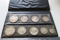 GUINEA 1970 10TH ANNIVERSARY OF INDEPENDENCE 9 COIN SILVER PROOF SET .999 WALLET