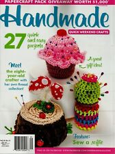 Handmade Vol 34 No 11 Craft Sew Knit Quilt Magazine GUC With Pattern Sheet