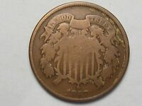 1867 US Two Cent Coin. 2¢.  #90