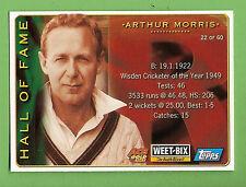 2002 WEETBIX  CRICKET CARD #22  ARTHUR  MORRIS / #47  DARREN  LEHMANN