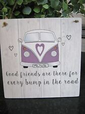 VW Camper Van Quote Wall Plaque Auntie, Sister, daughter Friend Sign Present