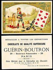 Chromo Guérin-Boutron - Jeu de Cartes - Neuf de Coeur
