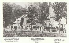 London Postcard - Old Greenford - Village Green c1920 - Showing Cattle  V32