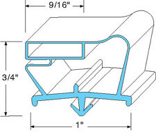 "DOOR GASKET 23-1/8"" X 31"" Snap-In Mount for Beverage Air EF24 EF48 EF74 741082"