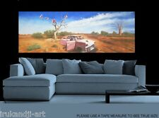 large canvas 210cm x70cm retired to outback paintng landscape australian