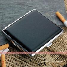 Black Leather Cigarette Case Box Hold For 18 Cigarettes 305Bb