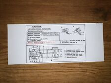 1978-83 Toyota Pickup Hilux Truck Grease Instructions Sun visor Repro 4Wd