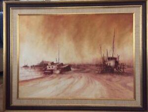 Rex Backhaus-Smith (1935-Airlie Beach-54.5cmx74.5cm-Unframed-Oil On Canvas Board