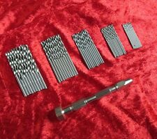 New Swivel Head Pin Vice & 50Pc Micro Drills Craft Model & Jewelers Watch Making