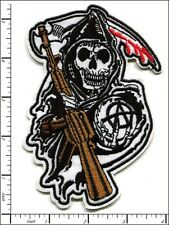 10 Pcs Embroidered Iron on patches SONS OF ANARCHY 9x13.5cm AP021eF