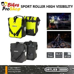 ORTLIEB Sport Roller HIGH VISIBILITY (Pair) - Bike Bicycle Panniers Bags GER 21