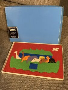 Vintage Lauri Inc Crepe Foam Rubber Noah's Ark Preschool Puzzle 1979