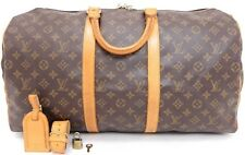 Authentic LOUIS VUITTON monogram Keepall 50 Travel Duffel Luggage bag USA M41426