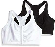 Fruit of the Loom Women's Front Close Racerback (Pack of, Black/White, Size 34 w