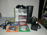 Microsoft Xbox 360 Slim S 1439 - 250GB with 20 Games + Controller - Tested Works